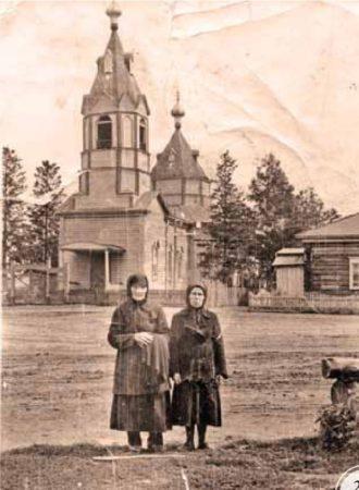 Вознесенская церковь в с.Шипуново ныне Сузунского р-на. 1950-егг. Архив Админи- страции Сузунского р-на..