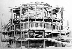 Александро-Невский храм. Период строительства. Восточный фасад.