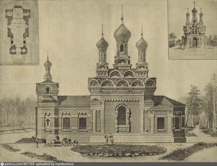 Каменная однопрестольная церковь во имя преподобнаго мученика Андрея Критского станция Тайга