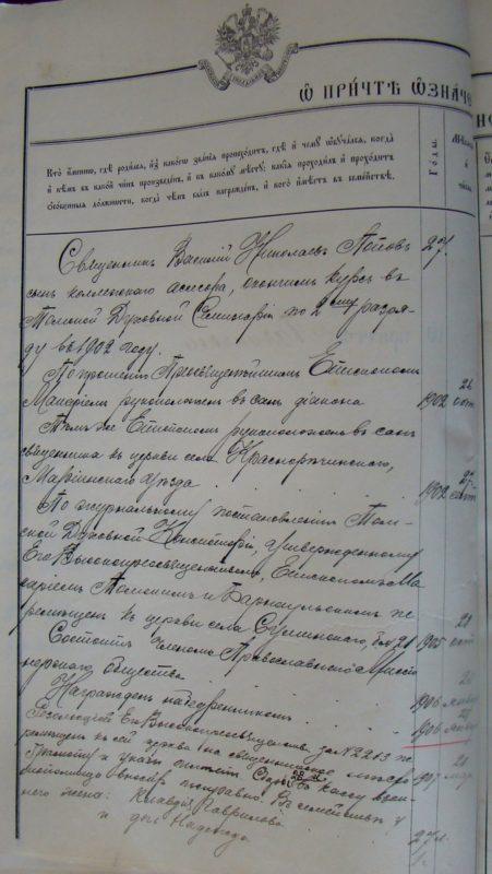 Пача, Пачинское, Клировая ведомость,  1907 год, АРхивные документы, Яшкинский район, Кемеровская область