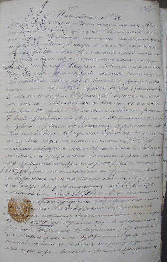 Турнаево, 1912 год, Архивные документы