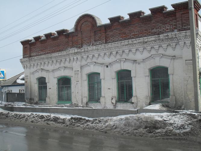 Искитим, каменное здание, начало ХХ века, памятник архитектуры