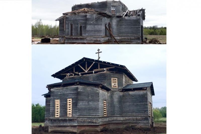 Медлеш, Архангельская область, Движение Общее дело, деревянное зодчество