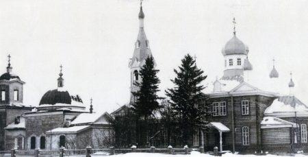 1912 год. с. Болотное. Старое здание церкви еще не снесли.