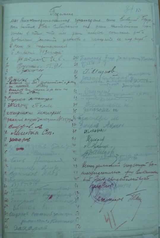 Елбаши, 1929 год, Архивные документы, ГАНО, Искитимский район