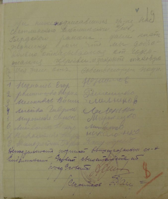 Елбаши, 1929 год, Архивные документы, ГАНО, Искитимский район, Архивные документы
