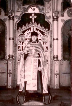 Священник Михаил Иванов настоятель Никольского храма Болотное, 1957 г.