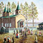 Храм в селе Койново в 1927 году