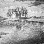 Вид с реки на церковь из с. Койнова 1927 г.