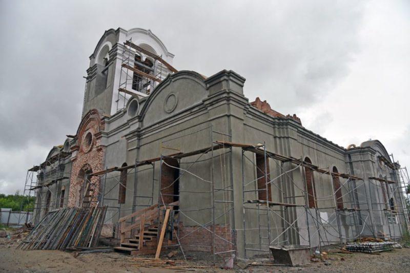 Колывань, Троицкий собор, восстановление, Новосибирская область