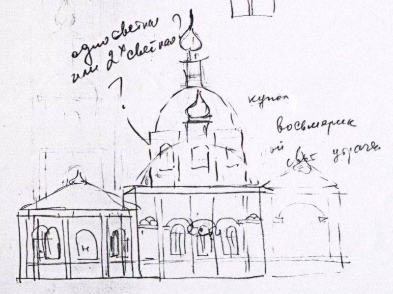церковная архитектура, реконструкция, Алтайская железная дорога, станция Черепаново, архитектура классицизма