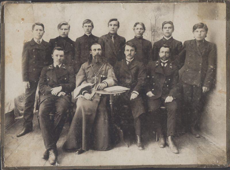Колывань, священник Нил Глушинский, дореволюционное духовенство, ретро фото, отцы города