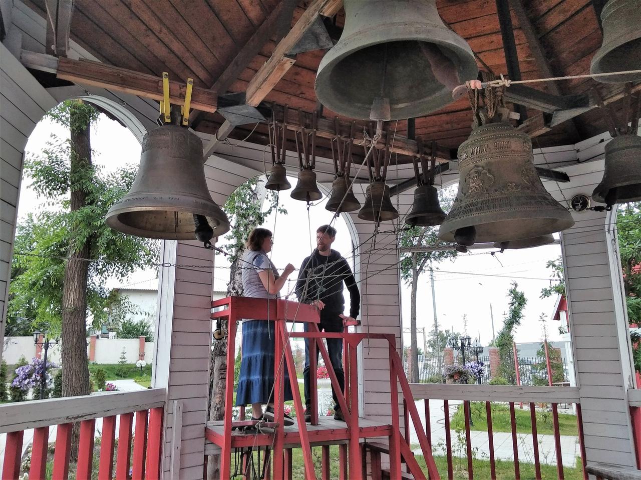 Звонари Алтая посетили Сибирский центр колокольного искусства