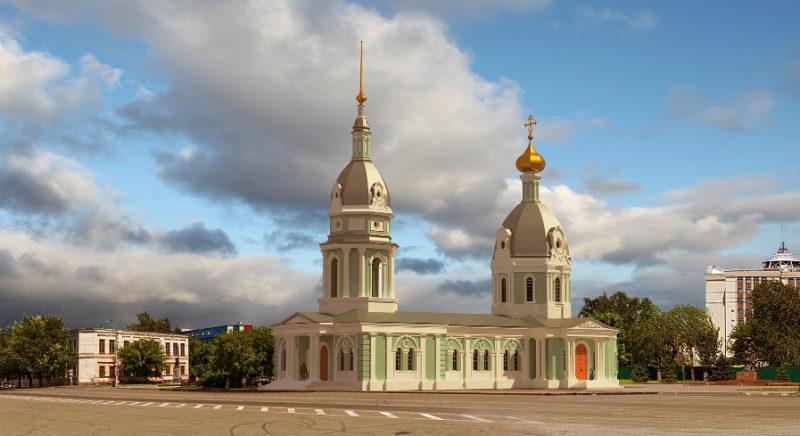 Барнаул, памятник архитектуры, храм Петра и Павла