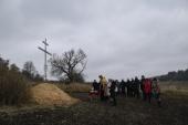 На малой родине священномученика Сергия (Шеина) установлен поклонный крест